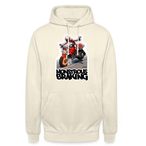 Ducati Monster, a motorcycle stoppie. - Sudadera con capucha unisex