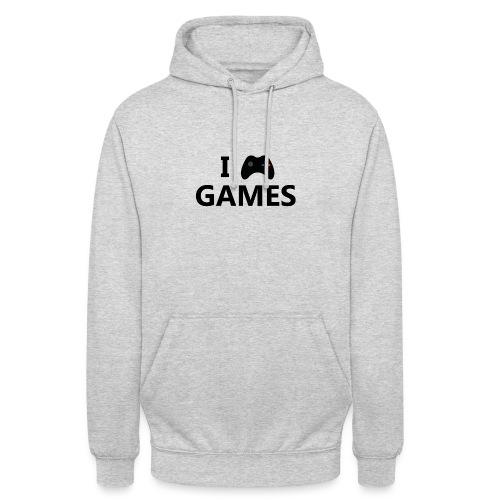 I Love Games 3 - Sudadera con capucha unisex