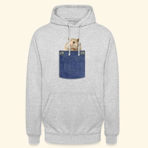 hamster in the poket - Felpa con cappuccio unisex