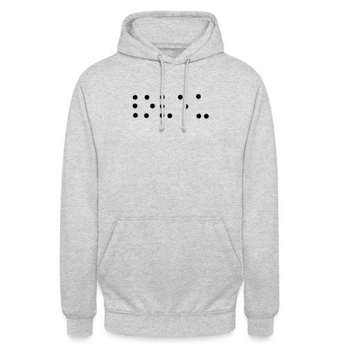 Je t'aime braille - Sweat-shirt à capuche unisexe