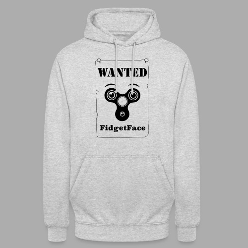 Fidget Spinner Face Wanted - Unisex Hoodie