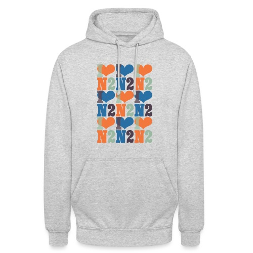 East Finchley I Love N2 pattern - Unisex Hoodie