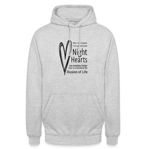 Night Hearts - Hættetrøje unisex