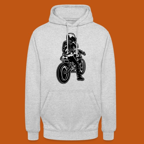 Cafe Racer Motorrad 02_schwarz - Unisex Hoodie