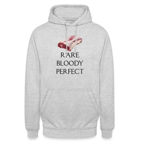 Rare Bloody Perfect , beef for the meat eater - Hættetrøje unisex