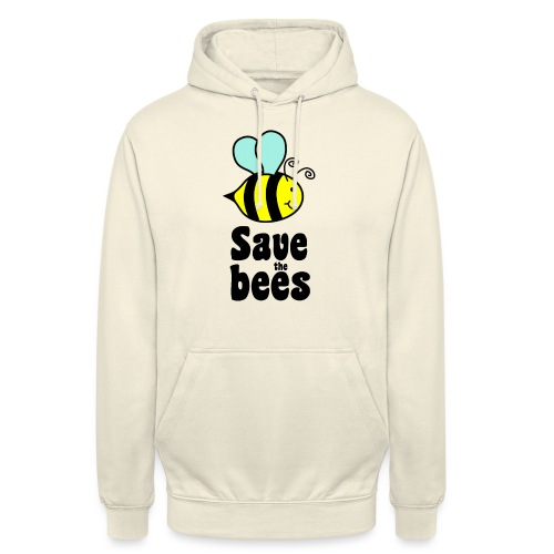 Bees9 - save the bees | Bees protect flowers - Unisex Hoodie
