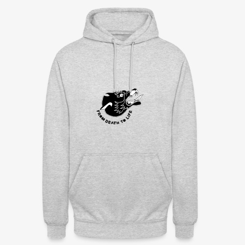 wolf - Sweat-shirt à capuche unisexe