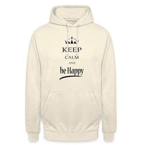 keep_calm and_be_happy-01 - Felpa con cappuccio unisex