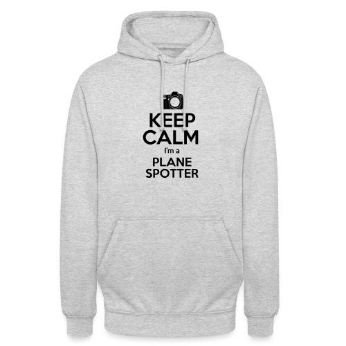 Keep Calm PlaneSpotter - Felpa con cappuccio unisex