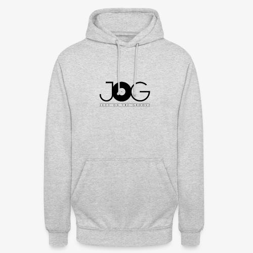 jog logo black - Felpa con cappuccio unisex