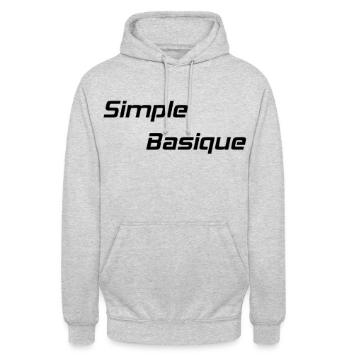 Simple Basique - Sweat-shirt à capuche unisexe