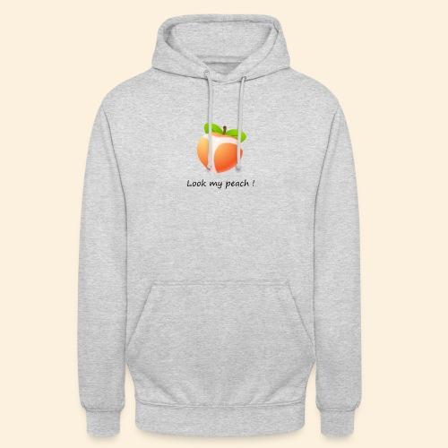Look my peach - Sweat-shirt à capuche unisexe