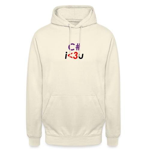 C# is love - Felpa con cappuccio unisex