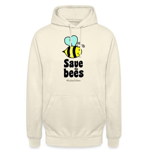 Bees9-1 save the bees   Bienen Blumen Schützen - Unisex Hoodie