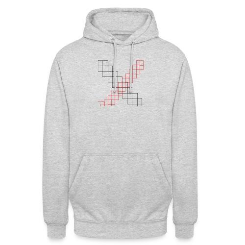 squares - Sweat-shirt à capuche unisexe
