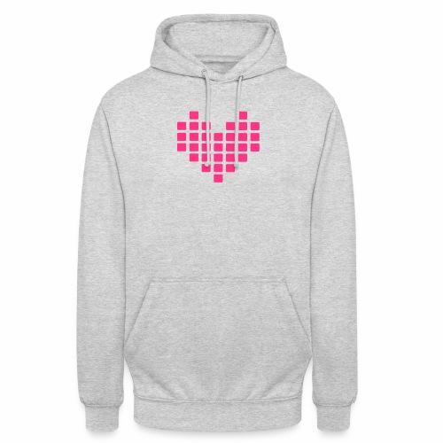 Digital Heart Herz Pixel Symbol PX love Liebe Icon - Unisex Hoodie