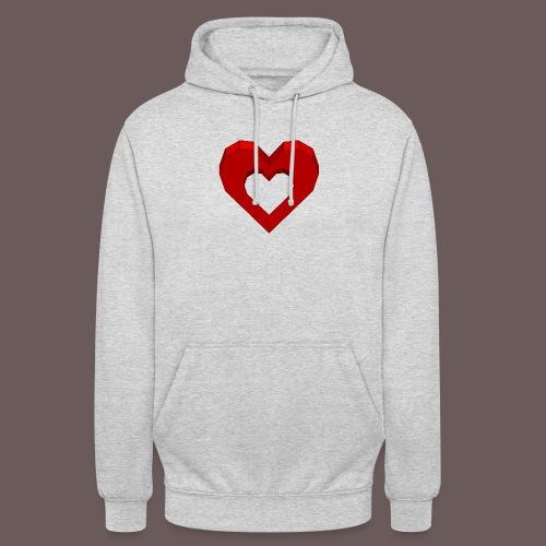 Heart Illusion - Hættetrøje unisex