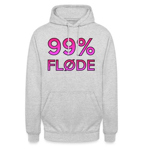 99% FLØDE - Hættetrøje unisex