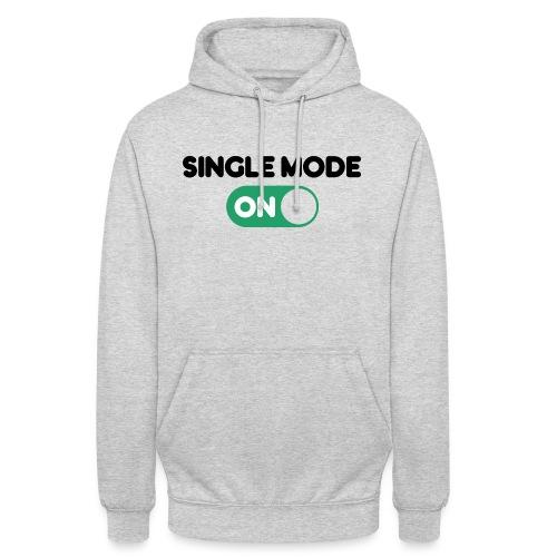 single mode ON - Felpa con cappuccio unisex