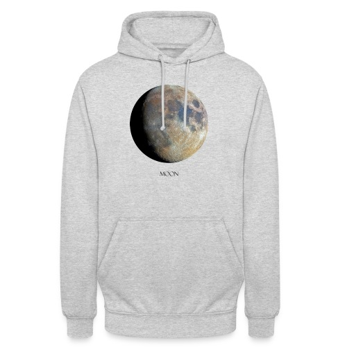 moon luna piena - Felpa con cappuccio unisex