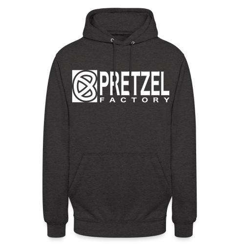 Pretzel Factory Logo Blanc - Sweat-shirt à capuche unisexe