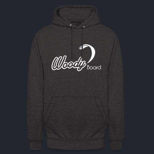 Logo Woodyboard Blanc - Sweat-shirt à capuche unisexe