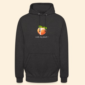 Look my peach in white - Unisex Hoodie