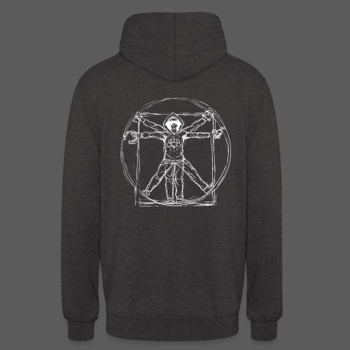 Vitruvian Gamer White Print - Unisex Hoodie