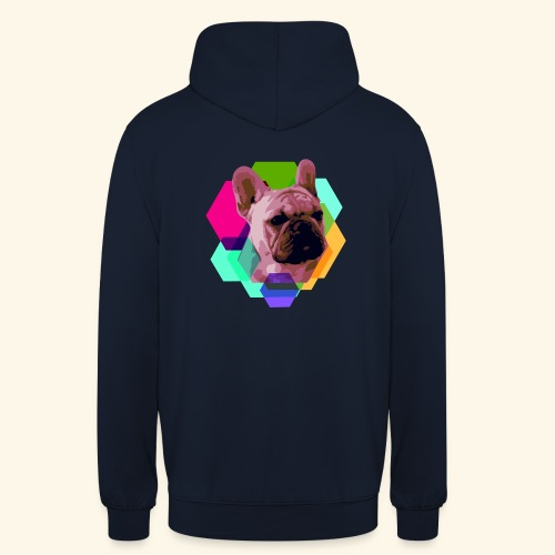 French Bulldog head - Sweat-shirt à capuche unisexe