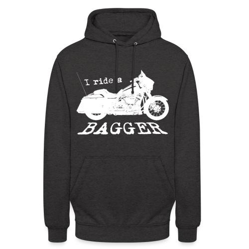 I ride a bagger - hvid - Hættetrøje unisex
