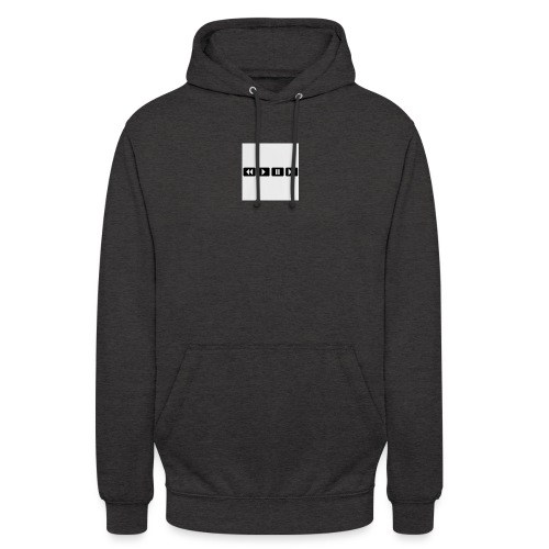 black-rewind-play-pause-forward-t-shirts_design - Hoodie unisex