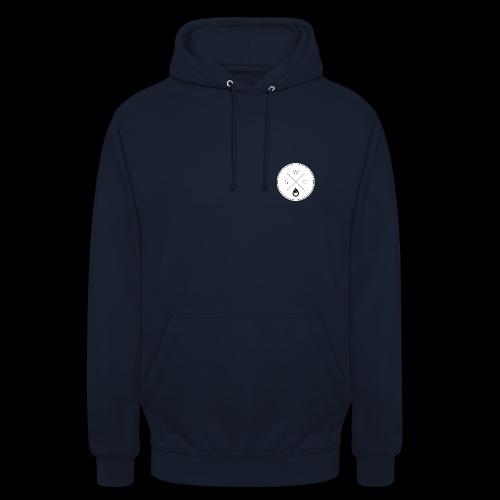 WSC Hipster-Logo rund weiß - Unisex Hoodie