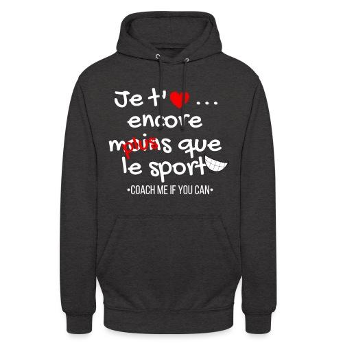 Saint valentin - Sweat-shirt à capuche unisexe