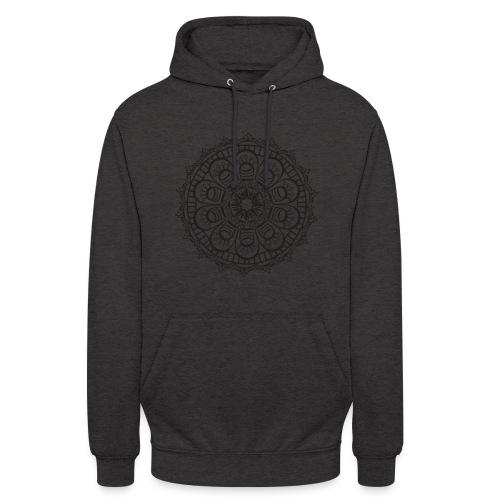 Mandala 3 - Sweat-shirt à capuche unisexe
