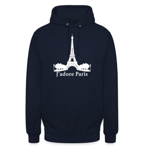 Design j'adore paris ma ville - Sweat-shirt à capuche unisexe
