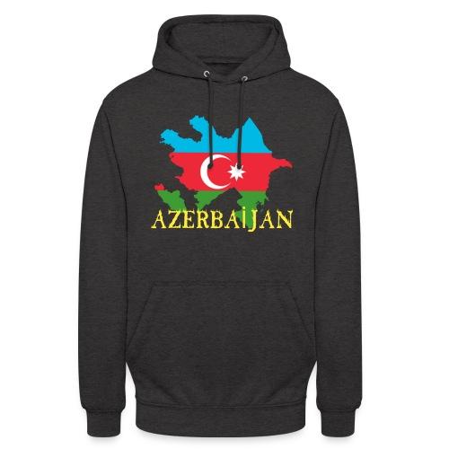 Aserbaidschan Flagge mit Feuer Text - Unisex Hoodie