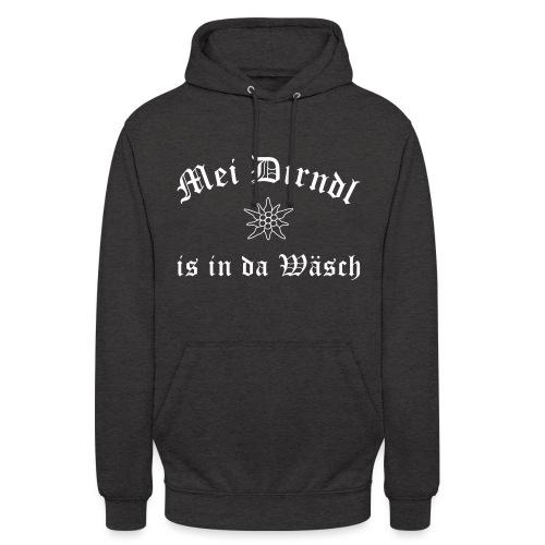 Mei Dirndl is in da Wäsch - Edelweiß - Unisex Hoodie