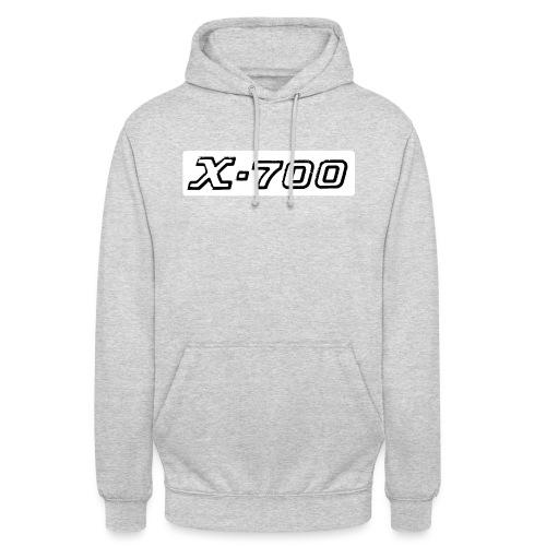 Minolta X-700 White - Felpa con cappuccio unisex