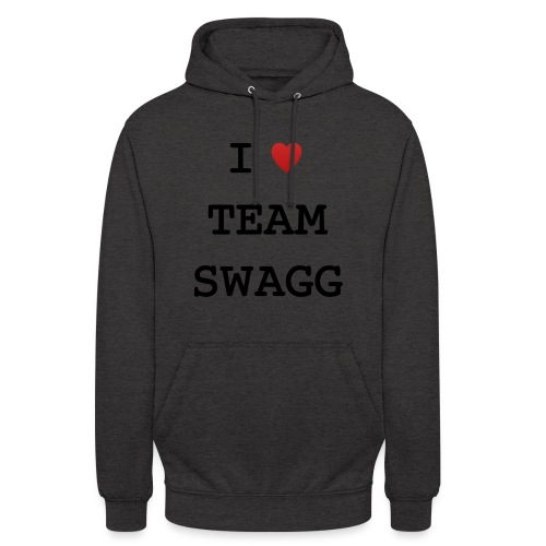 I LOVE TEAMSWAGG - Sweat-shirt à capuche unisexe