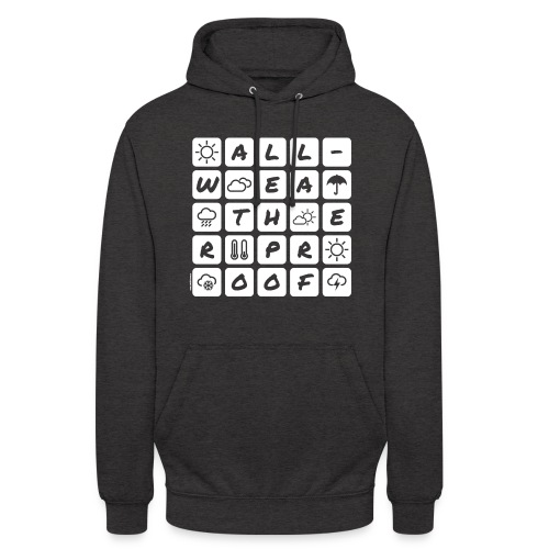 Outdoor - all-weather proof / white-on-black - Unisex Hoodie