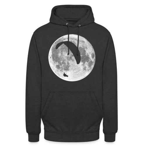 Paragleiter im Mond - Unisex Hoodie