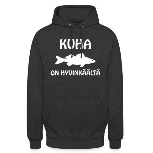 """KUHA ON HYVINKÄÄLTÄ - Huppari """"unisex"""""""