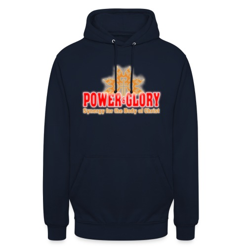 Power and Glory Logo glow red and orange - Unisex Hoodie