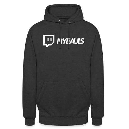 nyeauls twitch white png - Hoodie unisex