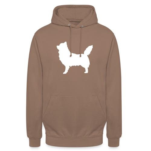 """Chihuahua pitkakarva valkoinen - Huppari """"unisex"""""""