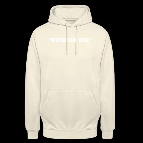Ride or die (blanc) - Sweat-shirt à capuche unisexe