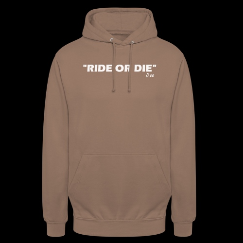 Ride or die (blanc) - Sweat-shirt à capuche unisexe
