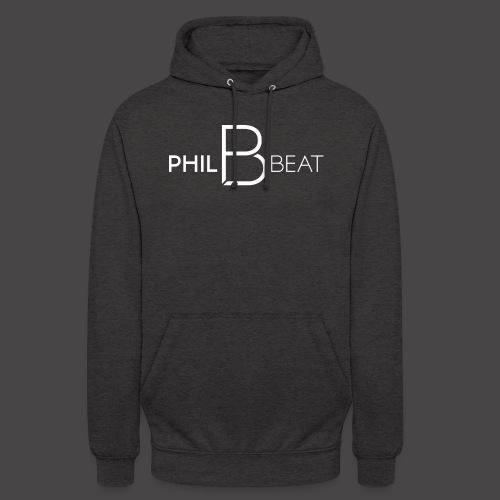 PhilBeat Logo weiß - Unisex Hoodie