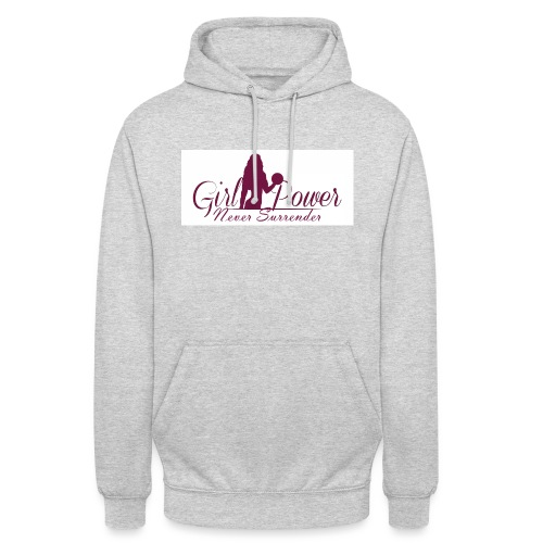 GIRL POWER NEVER SURRENDER - Sudadera con capucha unisex