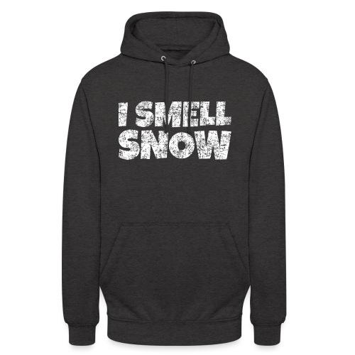 I Smell Snow Schnee, Weihnachten & Wintersport - Unisex Hoodie